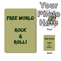 Cds   Free World By Agentbalzac   Multi Purpose Cards (rectangle)   826uvfjg2tu2   Www Artscow Com Front 49
