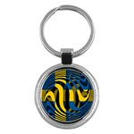 Sweden Key Chain (Round)