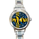 Sweden Round Italian Charm Watch