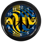 Sweden Wall Clock (Black)