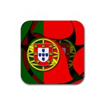 Portugal Rubber Square Coaster (4 pack)