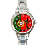 Portugal Round Italian Charm Watch