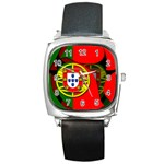 Portugal Square Metal Watch