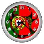Portugal Wall Clock (Silver)