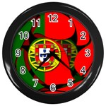 Portugal Wall Clock (Black)