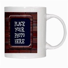 Brick White Mug By Chere s Creations   White Mug   Mbvxegk1zbyd   Www Artscow Com Right