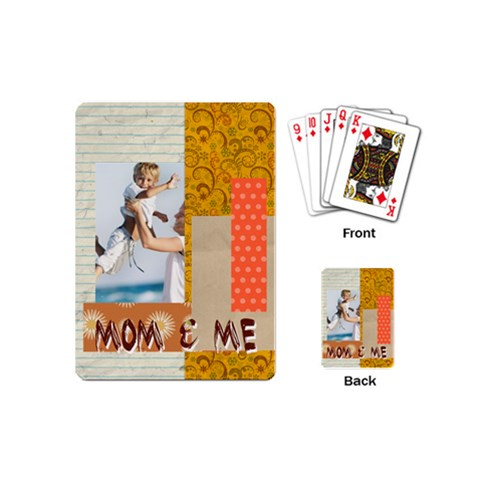 Mothers Day By Joely   Playing Cards (mini)   601xqun9kyqs   Www Artscow Com Back