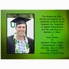 Matt Graduation By Lack Julie   5  X 7  Photo Cards   R74o6rqqw4oi   Www Artscow Com 7 x5 Photo Card - 4