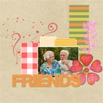 friends - ScrapBook Page 12  x 12