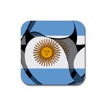 Argentina Rubber Square Coaster (4 pack)