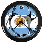 Argentina Wall Clock (Black)