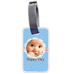 Happy Days By Joely   Luggage Tag (two Sides)   0lkbtdl5tjkb   Www Artscow Com Front