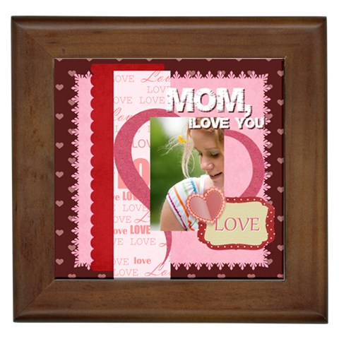 Mothers Day By Joely   Framed Tile   Vvaynwah5phv   Www Artscow Com Front