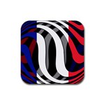 France Rubber Square Coaster (4 pack)
