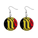 Belgium 1  Button Earrings