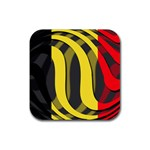 Belgium Rubber Square Coaster (4 pack)