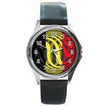 Belgium Round Metal Watch