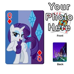 Queen Mlp 1 By Raymond Zhuang   Playing Cards 54 Designs   5hlbciumqjgt   Www Artscow Com Front - DiamondQ