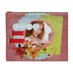 Love By Joely   Cosmetic Bag (xl)   Yo0h7fi5r1s1   Www Artscow Com Front