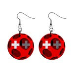 Switzerland 1  Button Earrings