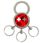 Switzerland 3-Ring Key Chain
