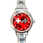 Switzerland Round Italian Charm Watch