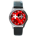 Switzerland Round Metal Watch