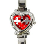 Switzerland Heart Italian Charm Watch