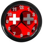 Switzerland Wall Clock (Black)