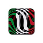 Italy Rubber Square Coaster (4 pack)
