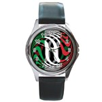 Italy Round Metal Watch