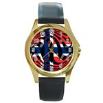 Norway Round Gold Metal Watch