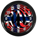 Norway Wall Clock (Black)