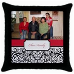 mhelanred1 - Throw Pillow Case (Black)