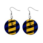 Barbados 1  Button Earrings