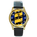 Barbados Round Gold Metal Watch