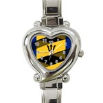 Barbados Heart Italian Charm Watch