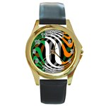 Ireland Round Gold Metal Watch