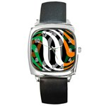 Ireland Square Metal Watch