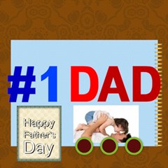 Fathers Day By Joely   #1 Dad 3d Greeting Card (8x4)   A2lxzoo6ibhz   Www Artscow Com Inside