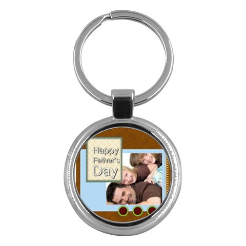 Father Day By Joely   Key Chain (round)   0yedj9ra01pi   Www Artscow Com Front