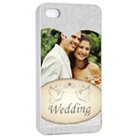 wedding - Apple iPhone 4/4s Seamless Case (White)