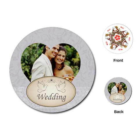 Wedding By Joely   Playing Cards (round)   Kac4a457ftu2   Www Artscow Com Front