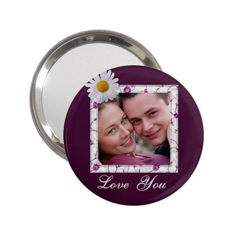 Love You Handbag Mirror by Deborah Front