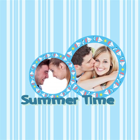 Summer Time By May 12 x12  Scrapbook Page - 1
