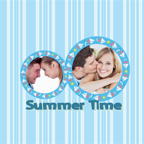 Summer Tiem By May   Scrapbook Page 8  X 8    Wtc93xlep1bl   Www Artscow Com 8 x8  Scrapbook Page - 1