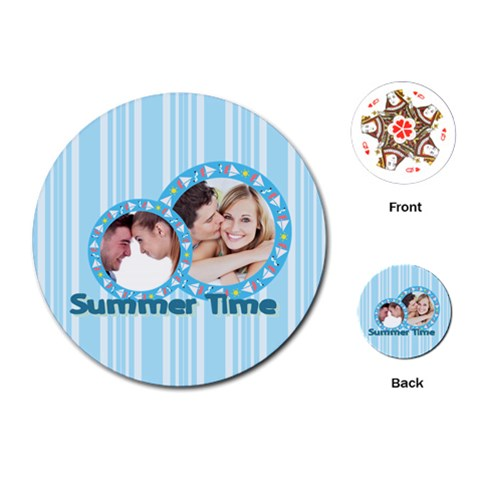 Summer Time By May   Playing Cards (round)   H39unwa9snn2   Www Artscow Com Front