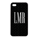 Cute Monogram iPhone 4 Case - Apple iPhone 4/4s Seamless Case (Black)