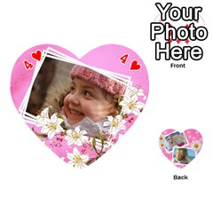 Happy Girl 54 Playing Cards (heart) By Deborah   Playing Cards 54 (heart)   U4yo9e3epio8   Www Artscow Com Front - Heart4