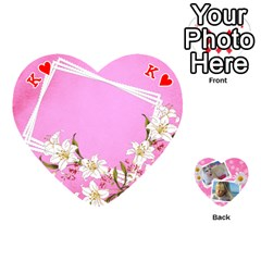 King Happy Girl 54 Playing Cards (heart) By Deborah   Playing Cards 54 (heart)   U4yo9e3epio8   Www Artscow Com Front - HeartK
